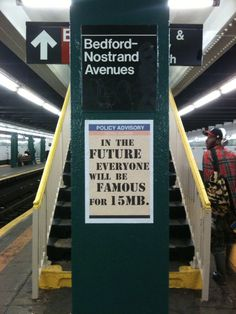 NYC. Street Artist Updates Warhol's Famous Quote