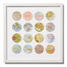 Travels Circle Map Art A circle for every place I lived...