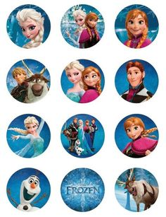 Frozen: Free Printable Toppers.: