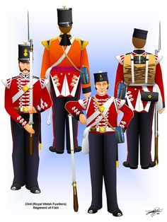 Uniforms of the British Army in the Crimean War-The 23rd Royal Welch Fusiliers