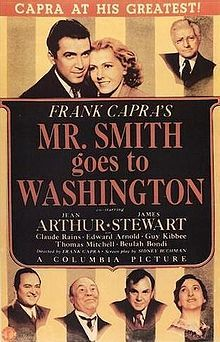 Mr. Smith Goes to Washington is a 1939 American drama film starring Jean Arthur and James Stewart about one man's effect on American politics. It was directed by Frank Capra and written by Sidney Buchman, based on Lewis R. Foster's unpublished story.[2] Mr. Smith Goes to Washington was controversial when it was released, but also successful at the box office, and made Stewart a major movie star.[3] The film features a bevy of well-known supporting actors and actresses, among them Claude…