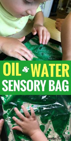 Sensory bags are great for kids to explore sensory play without the mess. Teach your toddler or preschooler about science with this oil and water sensory bag!