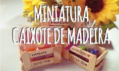 DIY - Mini Caixote de Madeira feito com palito de Picolé