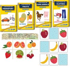 French flashcards, French learning games from until of December :) French Learning Games, Teaching French, How To Speak French, Learn French, Baby Language, French Flashcards, Kids Songs, Pet Clothes, Your Child