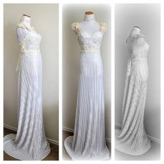 Luxury Wedding Dress Evening Gown Guipure Lace by EventOutlet