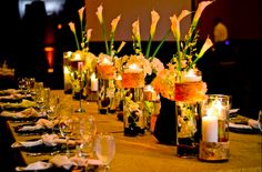 Stunning reception table for this breathtaking wedding!