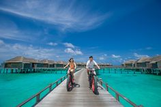 Explore #JAManafaru in style with complimentary bicycles for all ages!