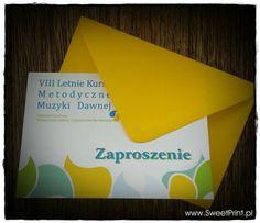 Zaproszenia w letnich kolorach.   zaproszenia: www.sweetprint.pl koperty: www.kolorowe-koperty.pl