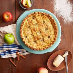 A Vegan Apple Pie with cinnamon and warming spices is the perfect dessert to make as the weather starts to get chilly! The lattice top is surprisingly easy, and you'll feel like a regular Martha Stewart.