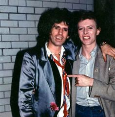 Keith Richards and David Bowie, by Jim Laspesa.