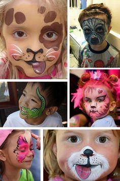 Face painting how creative! Toddler Makeup, Kids Makeup, Animal Face Paintings, Up Halloween, Fiesta Party, Fun At Work, Face Art, Mask For Kids, Body Painting