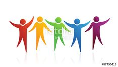 """""""People logo together"""" Stock image and royalty-free vector files on Fotolia.com - Pic 87790419  #people #group #teamwork #family #children #kids #team #meeting #business #partner #logo #illustration #graphic #icon #vector"""