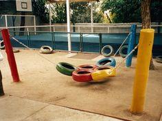 Playground feito de Pneus Como fazer 02