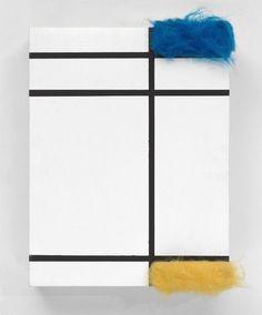 #5 SYLVIE FLEURY Composition avec bleu, jaune et blanc, 1992