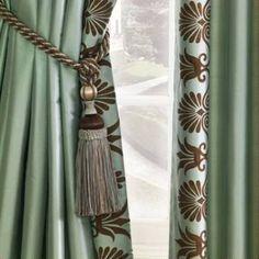 Anthemion silk drapery