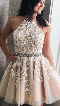 Cheap Short Prom Dresses, Simple Homecoming Dresses, Cute Prom Dresses, Elegant Dresses, Formal Dresses, Dresses For Teens, Short Tulle Dress, Vintage Dresses, Beaded Dresses