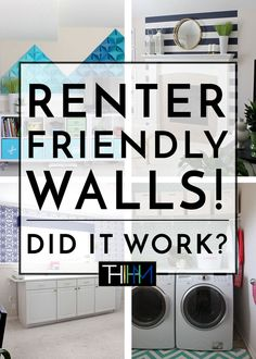 In an effort to not paint any walls, this blogger challenged herself to transform her walls in completely renter-friendly ways. A year later, everything is down off the walls and she's revealing what worked and what didn't!