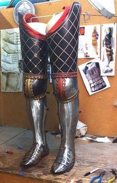 14th Century leg harness by Chris Gilman (Gaston)
