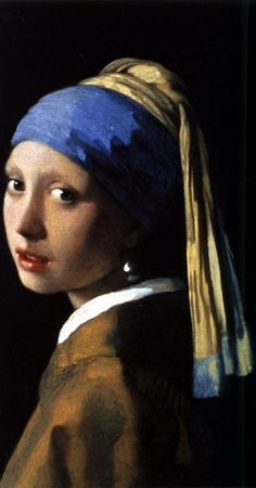 Girl with the Pearl Earring -- oil on canvas - by Johannes Vermeer