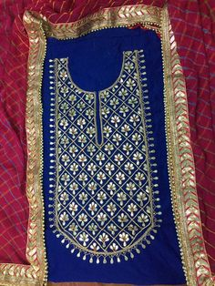 Untitled Types Of Embroidery, Indian Embroidery, Embroidery Suits, Machine Embroidery Designs, Indian Fashion Salwar, Indian Wedding Fashion, Indian Attire, Indian Outfits, Kurta Designs