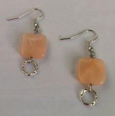 Pink Quartz Earrings with Tibetan Silver Rings by KristasJewellery, $10.00