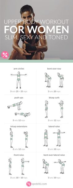Get your arms, shoulders, back and chest ready for tank top season with this upper body workout. A 20 minute routine for a slim, sexy and toned upper body.