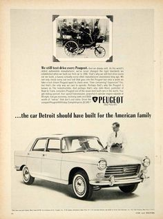 1963 Ad Peugeot 404 4 Door Saloon Compact Car I4 Engine 1888 Automobile YCD2