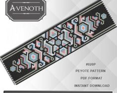 Peyote bracelet pattern peyote pattern par AvenothBeadPatterns