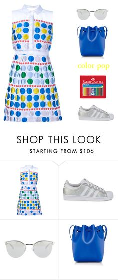"""""""color pop"""" by icelle ❤ liked on Polyvore featuring Delpozo, adidas Originals, Fendi, Mansur Gavriel and Faber-Castell"""