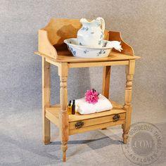 Antique Victorian Pine Wash Stand Vanity