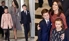 Crown Princess Mary pulls Princess Isabella and Prince Christian in for a cuddle as they join her at the royal palace for an Olympic reception | Daily Mail Online