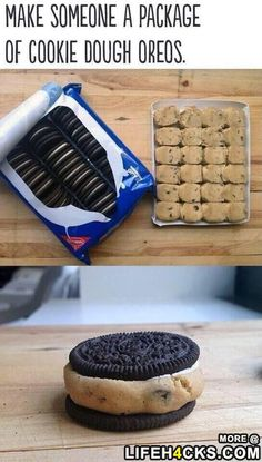 Make Someone a Package of Cookie Dough Oreos - #CookieDough, #DIY, #Oreos