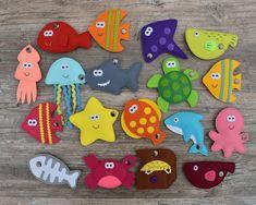 Dinosaur Party Favors, Felt Fish, Educational Toys For Toddlers, Hello Kitty Wallpaper, Montessori Toys, Sensory Toys, Felt Toys, Plush Dolls, Toddler Toys