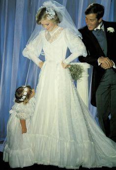 Pronuptia wedding dress, 1983
