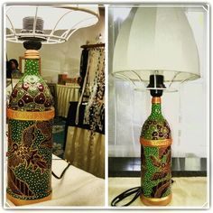 Recycled bottle Lamp.