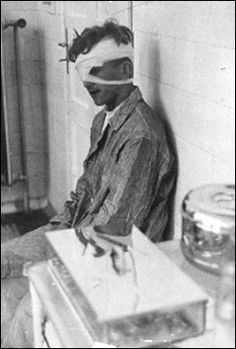victim of experiments at auschwitz sits in infIrmary The Undeniable Holocaust: A Pictorial Archive of Nazi Atrocities