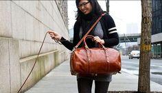 Venezia Piccola Leather Duffle Bag