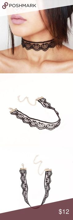 Black lace chocker necklace Brand New Fast shipping Jewelry Necklaces