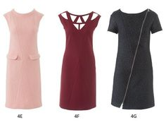 """BurdaEasy Paneled Dresses HW/2014#4E, G, F"""