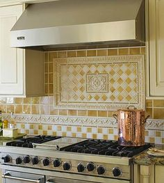 Handmade and/or hand painted tiles can be customized.favorite.....Patterned Kitchen Backsplash