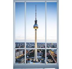 Berlin Fenster Poster Fernsehturm Alexanderplatz. Hier bei www.closeup.de