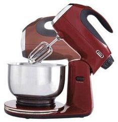 Iconic Stand Mixer Made of Durable Diecast Metal Construction This 12 Speed Mixmaster Is What Every Kitchen Needs  Red Maroon * To view further for this item, visit the image link.