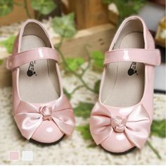 Pink Patent Leather Flower Pageant Girl Girls Dress Mary Jane Shoes SKU-133538