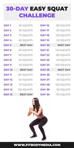 Simple rules for your body to get slimmer! Just 30 days EASY Squat Challenge w… Simple rules for your body to get slimmer! Just 30 days EASY Squat Challenge will help your body become perfect 😍 30 Day Squat Challenge, Weight Loss Challenge, Body Challenge, Workout Humor, Butt Workout, Free Workout, 30 Day Ab Workout, Workout Women, Dumbbell Workout