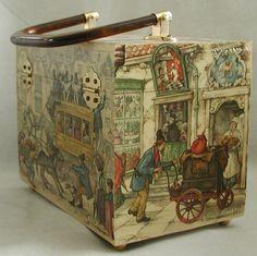 Anton Pieck purrfect vintage purse by TheVintageHandbag on Etsy. $78.00, via Etsy.