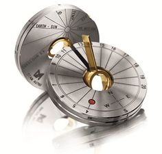 the coin-sized sundial. timekeeping in light and shadow. as a pendant or a pocket tool with integrated compass by meister & co. ag