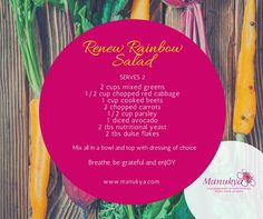 Rainbow Salad, Green Cups, Red Cabbage, Nutritional Yeast, Detox Recipes, Beets, Red Green, Avocado