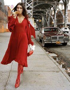 Duchess Dior: Bella Hadid by Dan Martensen for ELLE US February 2016
