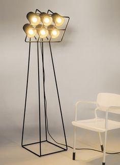 Multilamp Stehleuchte / H 180 cm