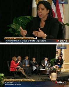 Moderating a panel discussion on the economy for C-Span.  Panelist include Andrea Zook, Urban League, Congressman Danny Davis, William Spriggs, US Dept of Labor, Nancy Sutley, White House Council on the Environment and Bob Lehman, Urban Institute.